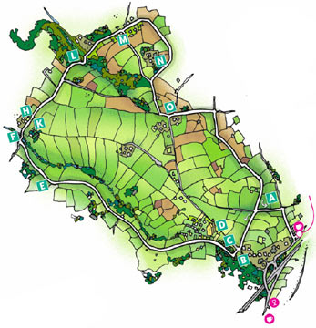 Walk 4 Map - Wheal Rose, The Poldice Plateway and Mawla