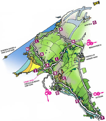 Walk 9 Map - Jericho Valley and Cross Coombe